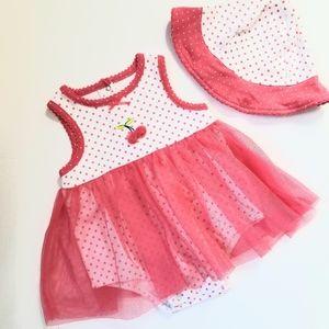 🧞♀️2/$10 Little Me tulle skirt onesie w/hat